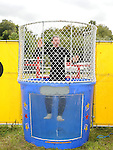 Bernard White of North Meath Macra gets dunked at the Ladywell Fete held in the grounds of Slane castle. Photo: www.pressphotos.ie