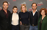 Marton Csokas, Phillipa Soo, Uma Thurman, Josh Lucas and Blair Brown attends the Meet & Greet Photo Call for the cast of Broadways 'The Parisian Woman' at the New 42nd Street Studios on October 18, 2017 in New York City.