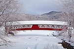 Covered bridge in Jackson Village in Jackson, NH, USA