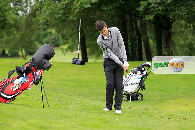 Ryan McKinstry (Cairndhu) on the 8th during round 1 of The Mullingar Scratch Cup in Mullingar Golf Club on Sunday 3rd August 2014.<br /> Picture:  Thos Caffrey / www.golffile.ie