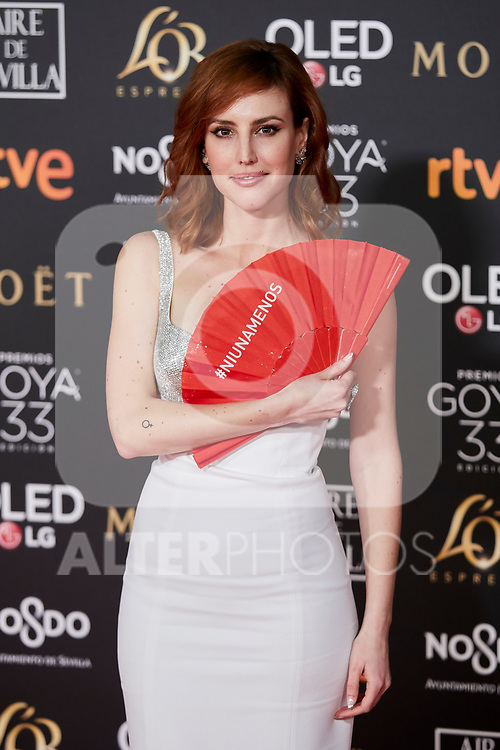 Natalia de Molina attends to 33rd Goya Awards at Fibes - Conference and Exhibition  in Seville, Spain. February 02, 2019. (ALTERPHOTOS/A. Perez Meca)