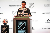 Philadelphia, PA - Thursday January 19, 2018: Oliver Shannon during the 2018 MLS SuperDraft at the Pennsylvania Convention Center.