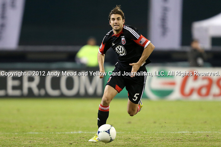 18 November 2012: DC's Dejan Jakovic (CRO). DC United played the Houston Dynamo at RFK Stadium in Washington, DC in the second leg of their 2012 MLS Cup Playoffs Eastern Conference Final series. The game ended in a 1-1 tie, Houston won the series 4-2 on aggregate goals.