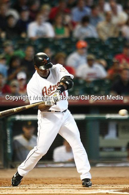 July 8, 2009: Houston Astros shortstop Miguel Tejada connects for a single. The Houston Astros defeated the Pittsburg Pirates 5-0 at Minute Maid Park in Houston, Texas. Margaret Bowles/CSM