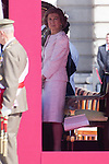 01.10.2012. The Spanish Royal Family, King Juan Carlos, Queen Sofia, Prince Felipe, Princess Letizia and Princess Elena attend the imposition of collective Distinguished Cross San Fernando Al Banner Armored Cavalry Regiment ´Alcántara´ No. 10 in the Royal Palace in Madrid, Spain. In the image Queen Sofia (Alterphotos/Marta Gonzalez)