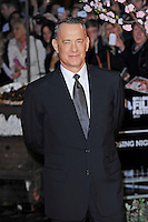 Tom Hanks<br /> attending the 57th BFI London Film Festival Closing Night Gala World Premiere of 'Saving Mr Banks', Odeon Cinema, Leicester Square, London, England. <br /> 20th October 2013<br /> half length black suit tie white shirt <br /> CAP/MAR<br /> © Martin Harris/Capital Pictures