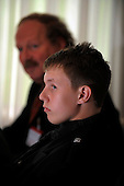 Picture shows 15 year old Ryan McLaughlin (who has campaigned on Multiple Sclerosis issues, after his mother, Kirsten, was diagnosed with the condition) with expert Prof George Ebers, at the Beardmore Hotel, Clydebank - picture by Donald MacLeod 21.09.10 - mobile 07702 319 738 - clanmacleod@btinternet.com - www.donald-macleod.com