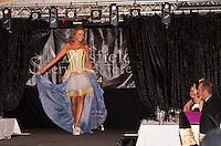 Lina Berzina models her hand-made Eco-Dress