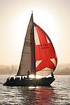 Sailing near Santa Cruz