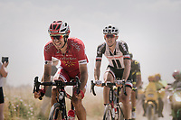 Nicolas Edet (FRA/Cofidis) emerging from the dust on pav&eacute; sector #6<br /> <br /> Stage 9: Arras Citadelle &gt; Roubaix (154km)<br /> <br /> 105th Tour de France 2018<br /> &copy;kramon