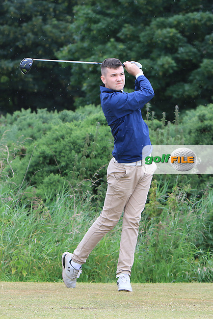Luke O'Sullivan (Malone) during Round 2 of the North of Ireland Amateur Open Championship 2019 at Portstewart Golf Club, Portstewart, Co. Antrim on Tuesday 9th July 2019.<br /> Picture:  Thos Caffrey / Golffile<br /> <br /> All photos usage must carry mandatory copyright credit (© Golffile   Thos Caffrey)