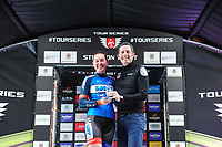 Picture by Simon WilkinsonSWpix.com 11/05/2017 - Cycling - Tour Series Round 2 - Matrix Fitness Womens Race Stoke, Stoke-on-Trent, England - Team WMT's Katie Archibald takes the win at the Tour Series Matrix Fitness Womens Race in Stoke.