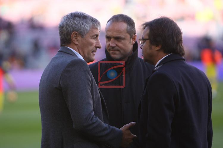 League Santander 2016/2017. Game: 18.<br /> FC Barcelona vs UD Las Palmas: 5-0.<br /> Quique Setien.