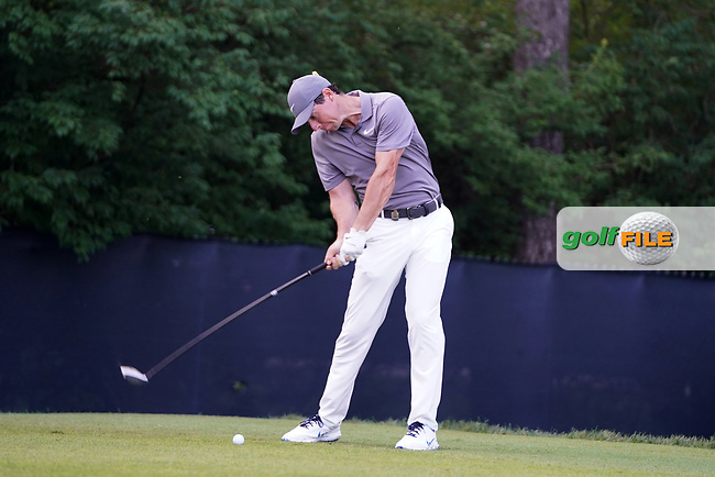 Rory McIlroy (NIR) tees off on the 9th hole during the second round of the 100th PGA Championship at Bellerive Country Club, St. Louis, Missouri, USA. 8/11/2018.<br /> Picture: Golffile.ie | Brian Spurlock<br /> <br /> All photo usage must carry mandatory copyright credit (© Golffile | Brian Spurlock)