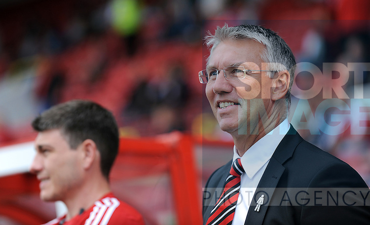 Sheffield United Manager Nigel Adkins<br /> - English League One - Swindon Town vs Sheffield Utd - County Ground Stadium - Swindon - England - 29th August 2015 <br /> --------------------