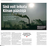 Half-page in monthly magazine Energia (Finland), on December, 9, 2009. Photo by Lucas Schifres/Pictobank