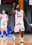 S&ouml;dert&auml;lje 2014-04-22 Basket SM-Semifinal 7 S&ouml;dert&auml;lje Kings - Uppsala Basket :  <br /> Uppsalas Oladapo Dee Ayuba jublar efter att ha gjort po&auml;ng<br /> (Foto: Kenta J&ouml;nsson) Nyckelord:  S&ouml;dert&auml;lje Kings SBBK Uppsala Basket SM Semifinal Semi T&auml;ljehallen jubel gl&auml;dje lycka glad happy