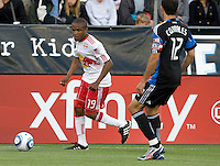 Dane Richards of Red Bulls in action during the game agains the Earthquakes at Buck Shaw Stadium in Santa Clara, California.  San Jose Earthquakes defeated New York Red Bulls, 4-0.