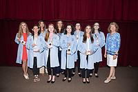 2019 Coating Ceremony Class of 2023 South Carolina group from Left to Right.  Ashlynn Dickman, Jessica Menig, Elizabeth Robinson, Megan DeLorenzo, Kaylynn Cantrell, Maggie Azevedo, Kristina Shultz, Madison Seay, and Kristen Miller.