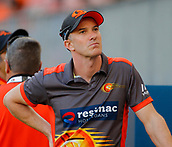 3rd February 2019, Optus Stadium, Perth, Australia; Australian Big Bash Cricket League, Perth Scorchers versus Melbourne Stars; Michael Klinger of the Perth Scorchers looks into the crowd before the start of his last match