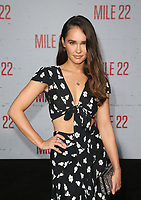 "9 August 2018-  Westwood, California - Kristy Dawn Dinsmore. Premiere Of STX Films' ""Mile 22"" held at The Regency Village Theatre. Photo Credit: Faye Sadou/AdMedia"