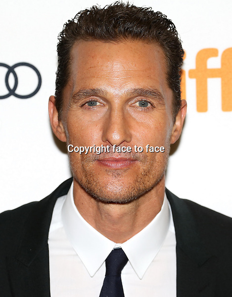 Matthew McConaughey attending the 2013 Tiff Film Festival Red Carpet Gala for &quot;Dallas Buyers Club&quot; at The Princess of Wales Theatre on September 7, 2013 in Toronto, Canada.<br /> Credit: McBride/face to face