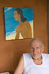 Arie Smit, Ubud, Bali Indonesia. Smit  is a Dutch-born Indonesian painter living on Bali. Smit received the Dharma Kusuma (Society of National Heroes) award in 1992 from the government of Bali. The Arie Smit Pavilion was opened at the Neka Art Museum in 1994 to display his works and those of contemporary Balinese artists.