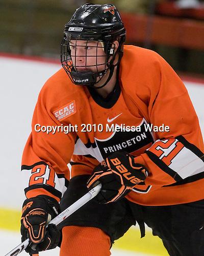 Mike Kramer (Princeton - 21) - The Princeton University Tigers defeated the Harvard University Crimson 2-1 on Friday, January 29, 2010, at Bright Hockey Center in Cambridge, Massachusetts.