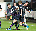 Dunfermline's Joe Cardle is crowded out by Paul Paton and Stephen O'Donnell (2).