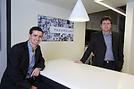 Paramount Office Opening..L-R: Gareth Rees Jones & Andrew Roberts.18.12.12.©Steve Pope