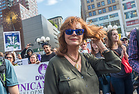 New York, NY 1 May 2017 - Actor and political activist Susan Sarandon at a May Day rally in Union Square Park. ©Stacy Walsh Rosenstock/Alamy Live News