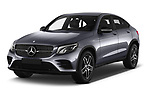2017 Mercedes Benz GLC-Coupe 220-D 5 Door SUV Angular Front stock photos of front three quarter view