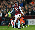 Ezri Konsa of Aston Villa reacts to a foul by Joelinton of Newcastle United during the Premier League match at Villa Park, Birmingham. Picture date: 25th November 2019. Picture credit should read: Darren Staples/Sportimage