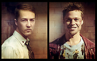 Fight Club (1999)<br /> Promo shot of Edward Norton &amp; Brad Pitt<br /> *Filmstill - Editorial Use Only*<br /> CAP/KFS<br /> Image supplied by Capital Pictures