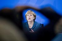 Bundeskanzlerin Angela Merkel (CDU) gibt am Dienstag (25.05.13) im Bundeskanzleramt in Berlin nach dem 6. Integrationsgipfel eine Pressekonferenz..Foto: Axel Schmidt/CommonLens