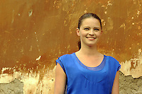 "Roma, 6 Aprile 2012.Photocall del film ""Diaz"" .L'attrice Jennifer Ulrich."