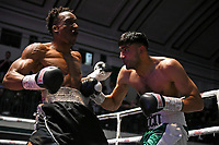 Shocki Khan (green shorts) defeats Victor Edagha during a Boxing Show at York Hall on 7th September 2019