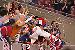 13 March 2008: Unidentified USA fans celebrate the game's lone goal. The United States U-23 Men's National Team defeated the Panama U-23 Men's National Team 1-0 at Raymond James Stadium in Tampa, FL in a Group A game during the 2008 CONCACAF's Men's Olympic Qualifying Tournament.