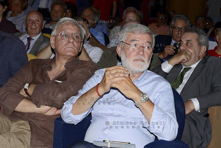 Scuola, lavoro, democrazia.<br /> Assemblea al Teatro Palladium di Garbatella promossa da Cesare Salvi e Sergio Cofferati.
