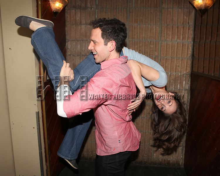 "Santino Fontana & Laura Osnes arriving for the Original Broadway Cast Recording of Broadway's ""Rodgers & Hammerstein's Cinderella? at MSR Studios in New York City on 3/18/2013 ***EXCLUSIVE***"