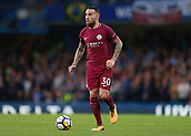 30th September 2017, Stamford Bridge, London, England; EPL Premier League football, Chelsea versus Manchester City; Nicolas Otamendi of Manchester City in action