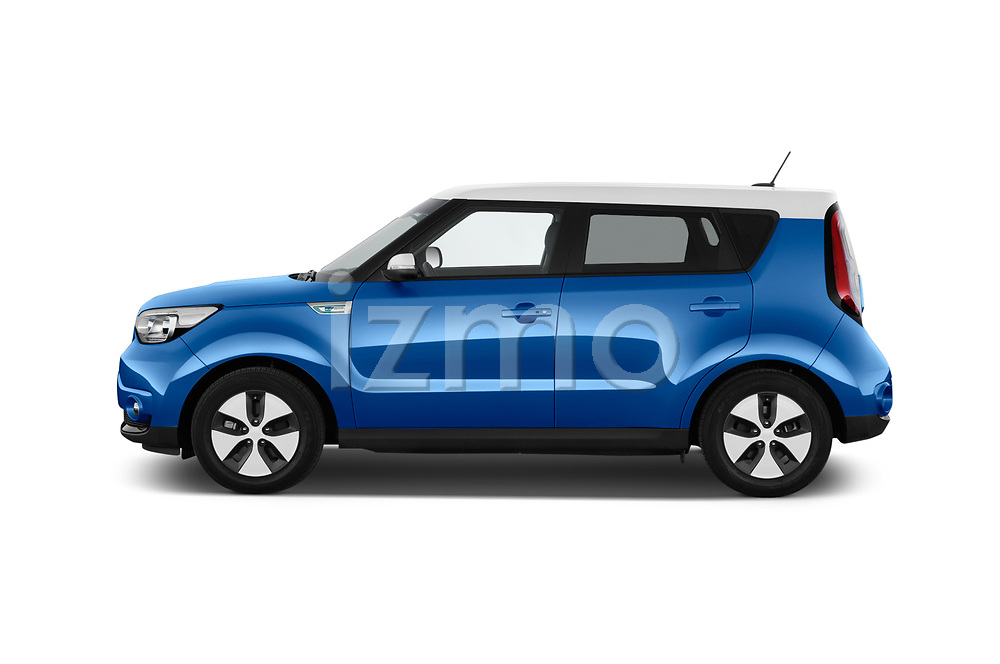 Car driver side profile view of a 2018 KIA Soul EV Base 5 Door Hatchback