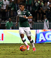 CALI - COLOMBIA – 14 - 06 - 2017: Cesar Amaya, jugador de Deportivo Cali, durante partido de ida de la final entre Deportivo Cali y Atletico Nacional, por la Liga Aguila I-2017, jugado en el estadio Deportivo Cali (Palmaseca) de la ciudad de Cali. / Cesar Amaya, player of Deportivo Cali, during a match of the first leg of the finals between Deportivo Cali and Atletico Nacional, for the Liga Aguila I-2017 at the Deportivo Cali (Palmaseca) stadium in Cali city. Photo: VizzorImage  / Luis Ramirez / Staff.
