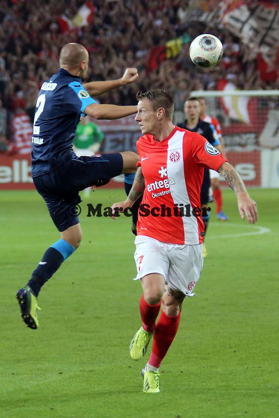 Miso Brecko (Köln) gegen Niki Zimling (mainz)- 1. FSV Mainz 05 vs. 1. FC Köln, Coface Arena, 2. Runde DFB-Pokal