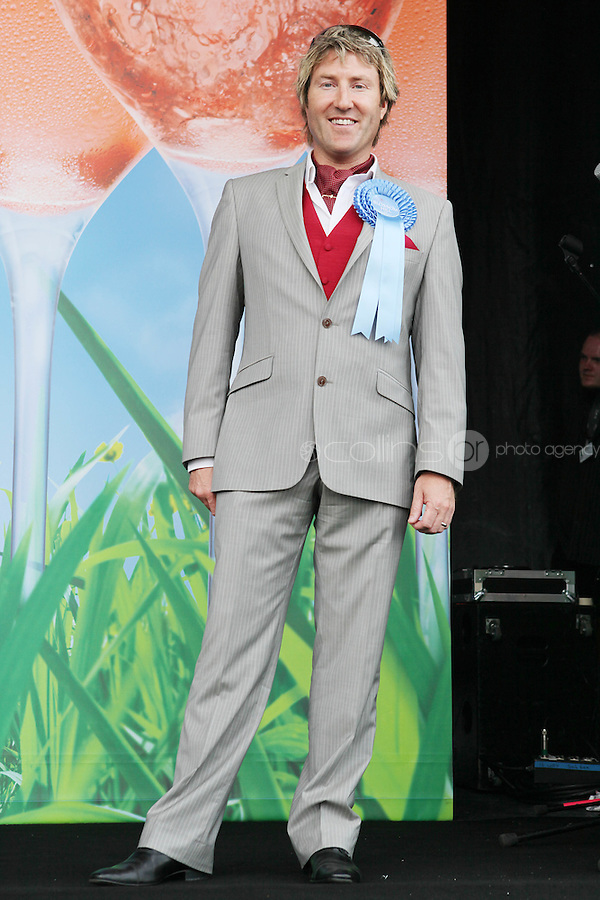 5/8/2010.Blossom Hill Ladies Day. Winner of the best dressed  man Paul Morrissy from Limerick at the Blossom Hill Ladies Day at the Fáilte Ireland Dublin Horse Show at RDS. Picture James Horan/Collins Photos