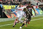 08.02.2019, Rheinenergiestadion, Köln, GER, DFL, 2. BL, VfL 1. FC Koeln vs FC St. Pauli, DFL regulations prohibit any use of photographs as image sequences and/or quasi-video<br /> <br /> im Bild v. li. im Zweikampf Benno Schmitz (#2, 1.FC Köln / Koeln) Mats Moeller Daehli / Möller Daehli (#14, FC St. Pauli) <br /> <br /> Foto © nph/Mauelshagen