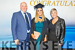 Michelle McCarthy graduating from the I T Tralee on Friday standing with her mom and dad, Denis and Hannah.