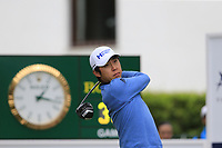Jinho Choi (KOR) tees off the 1st tee during Saturday's rain delayed Round 2 of the Andalucia Valderrama Masters 2018 hosted by the Sergio Foundation, held at Real Golf de Valderrama, Sotogrande, San Roque, Spain. 20th October 2018.<br /> Picture: Eoin Clarke | Golffile<br /> <br /> <br /> All photos usage must carry mandatory copyright credit (&copy; Golffile | Eoin Clarke)