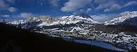Europe/Italie/Vénétie/Dolomites/Cortina d'Ampezzo: la station et le massif des Dolomite