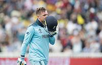 Jason Roy (England)leaves the field following his dismissal during Australia vs England, ICC World Cup Semi-Final Cricket at Edgbaston Stadium on 11th July 2019